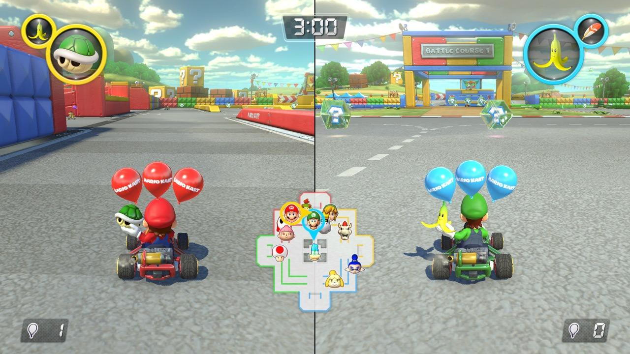 بازی های مسابقه ای Split screen