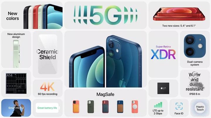 تصویری از تمام ویزگیهای iPhone 12