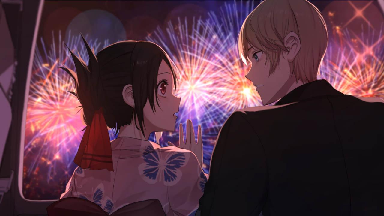 معرفی بهترین انیمه های عاشقانه | انیمه Kaguya-sama: Love Is War