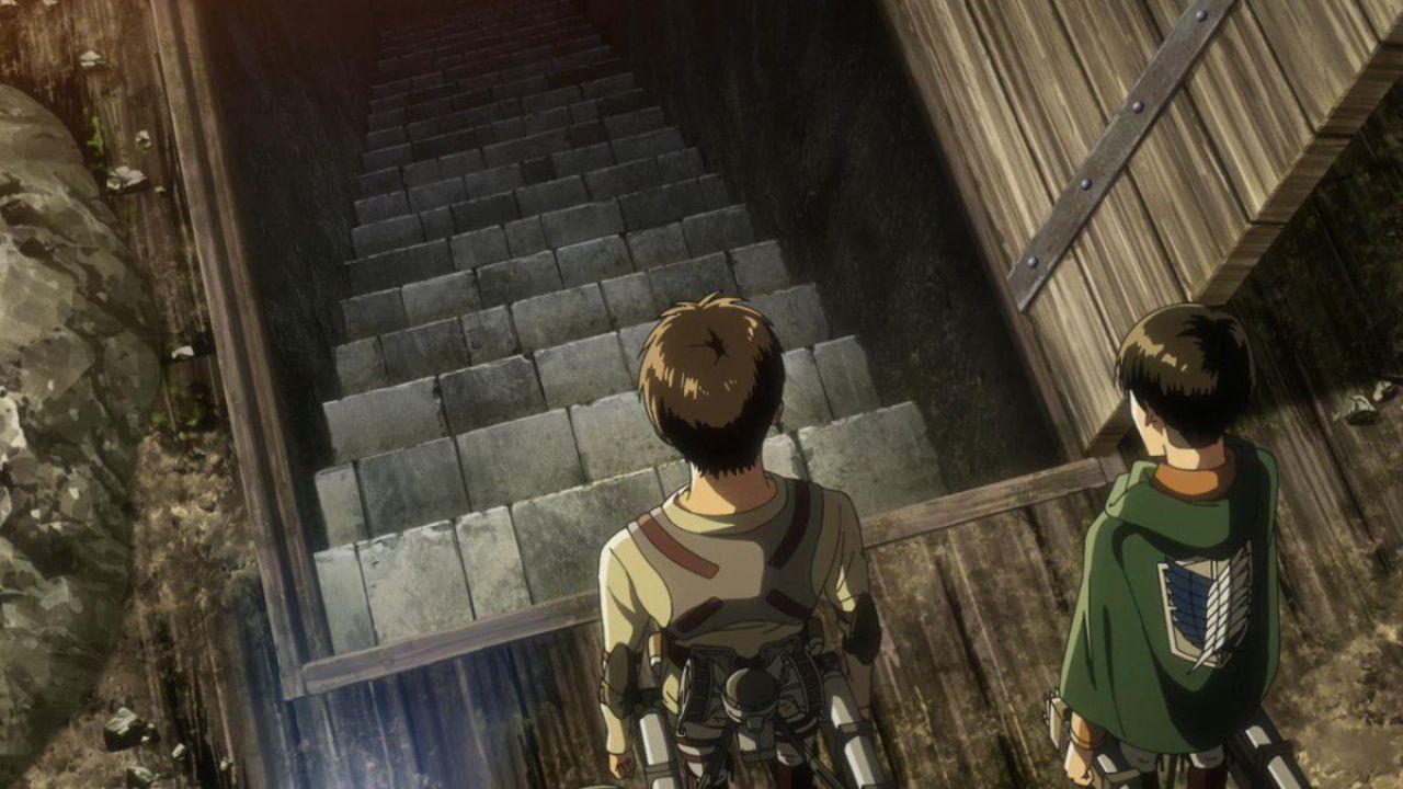 ورود ارن و لیوای به زیرزمین خانه پدری ارن