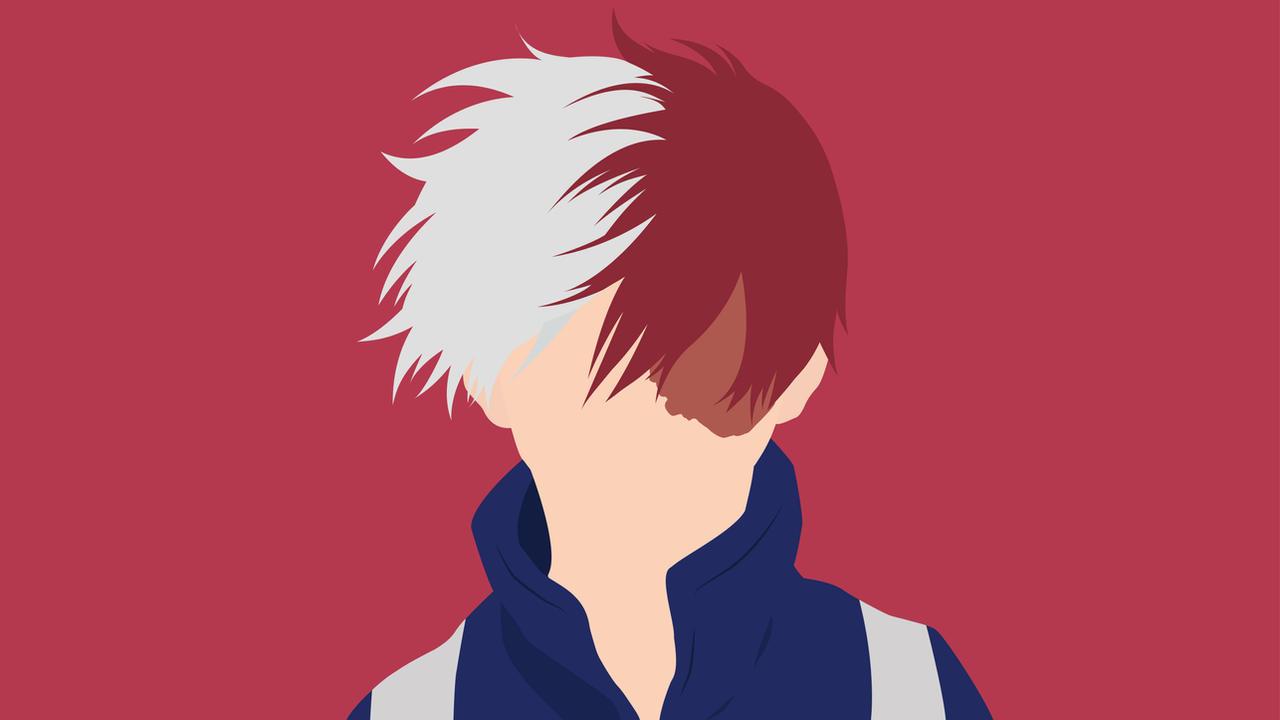 Shoto Todoroki از انیمه مدرسه قهرمانانه من