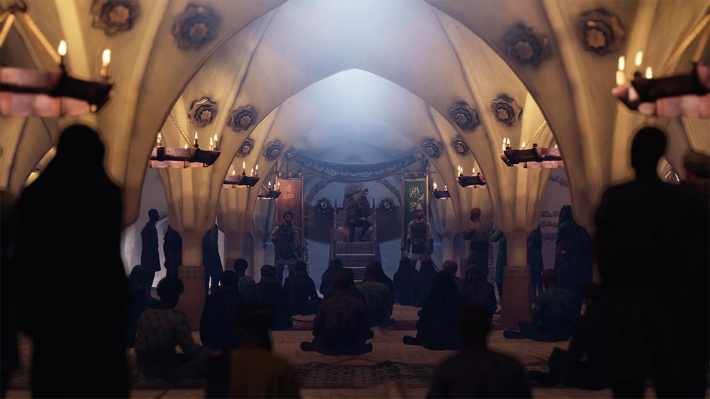 مسلم بن عقیل در مسجد کوفه