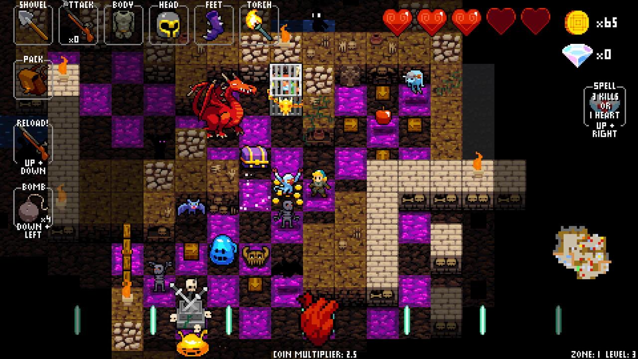 بازی های موزیکال - بازی Crypt of the NecroDancer
